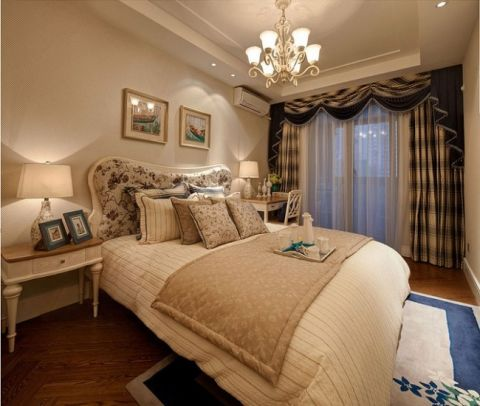 卧室吊顶田园风格装饰设计图片