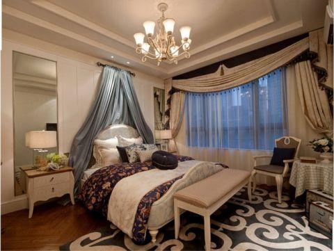 卧室窗帘田园风格装潢设计图片