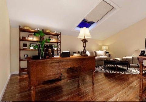 书房书桌美式风格装修效果图