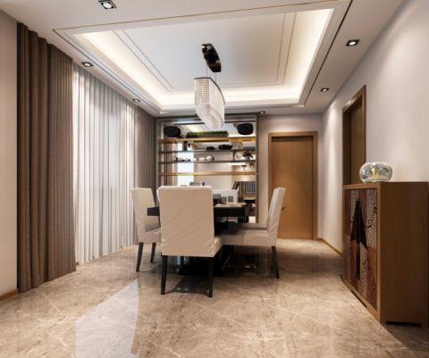 餐厅地砖新中式风格装饰设计图片