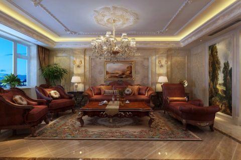 欧式风格160平米四室两厅新房装修效果图