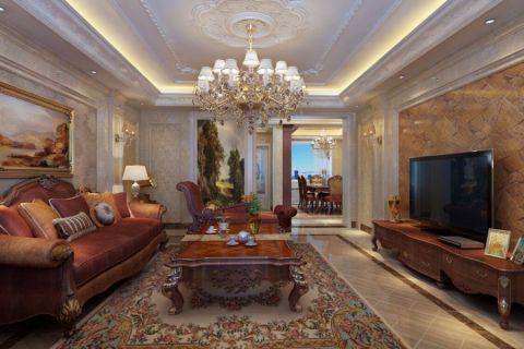 客厅电视柜欧式风格装潢设计图片
