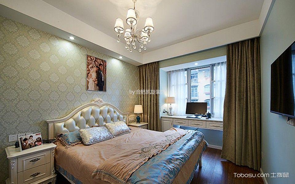 卧室 窗帘_欧式风格150平米大户型室内装修效果图
