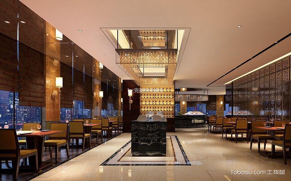 新中式风格饭店大厅设计图片