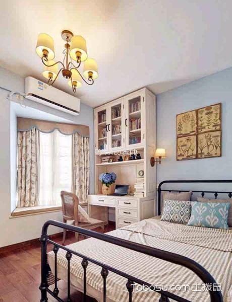 卧室彩色飘窗法式风格装饰图片