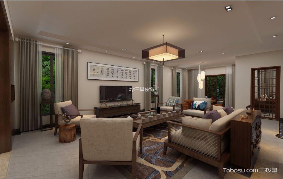 中山金沙花园330平米新中式风格效果图