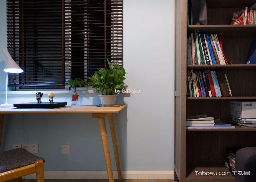 客厅黄色书桌简约风格装饰图片