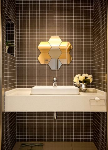 卫生间背景墙简约风格效果图