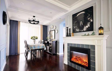 餐厅窗帘美式风格装修设计图片