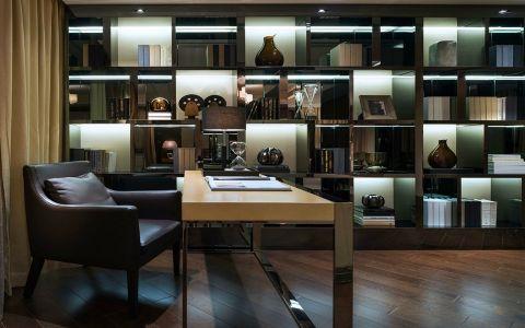 书房博古架现代风格装饰图片