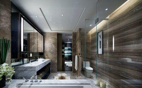 卫生间背景墙现代风格装修设计图片