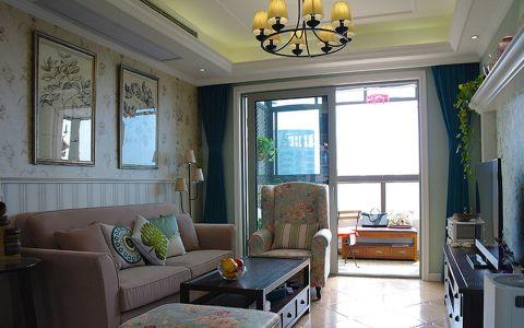 美式风格90平米公寓室内装修效果图