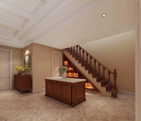 玄关楼梯美式风格装潢设计图片