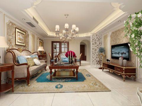 美式风格260平米别墅室内装修效果图