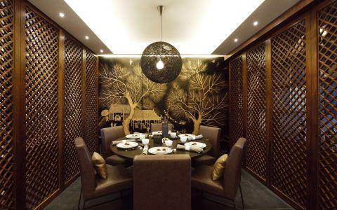 餐厅吊顶中式古典风格装饰图片