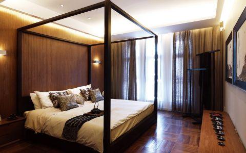 卧室窗帘中式古典风格装修设计图片