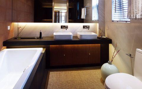 卫生间洗漱台中式古典风格装饰设计图片