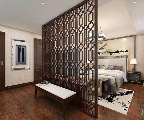 卧室隔断中式风格装修效果图