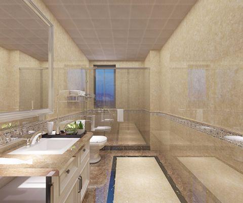 卫生间背景墙欧式风格效果图