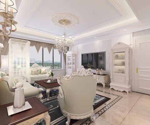旺海公府-190平米三居室欧式风格装修效果案例