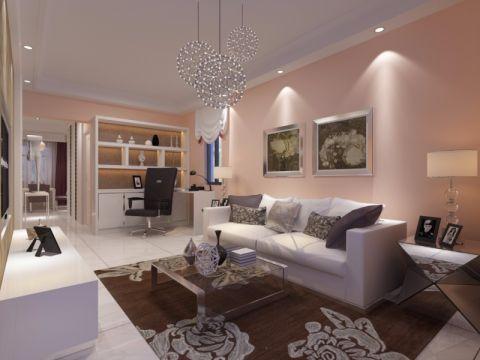 客厅沙发简约风格装潢图片