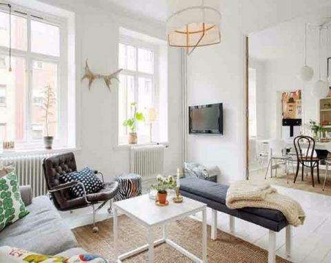 北欧风格70平米公寓新房装修效果图