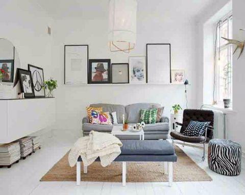 客厅照片墙北欧风格装饰设计图片