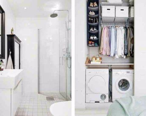 卫生间洗漱台北欧风格装饰效果图