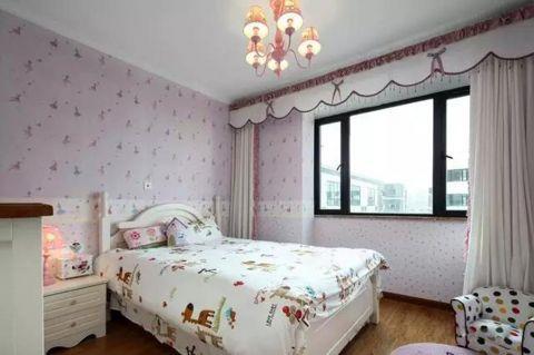 儿童房床美式风格装饰图片