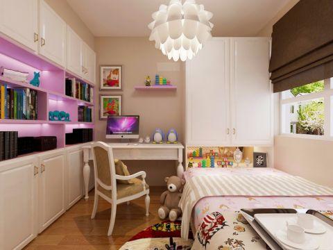 儿童房衣柜现代简约风格装饰效果图