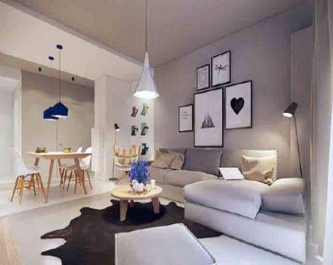 70平米简约公寓装修效果图
