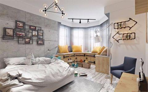 卧室照片墙北欧风格装饰设计图片