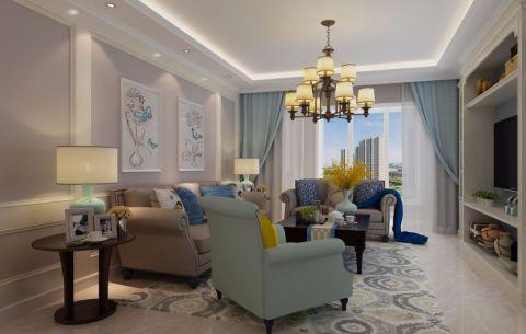 美式风格141平米三室两厅新房装修效果图