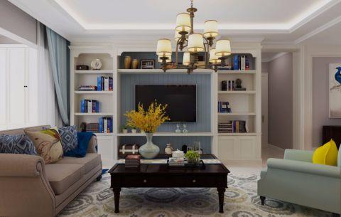 客厅吊顶美式风格装修效果图