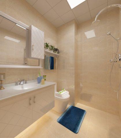 卫生间背景墙新中式风格装饰图片