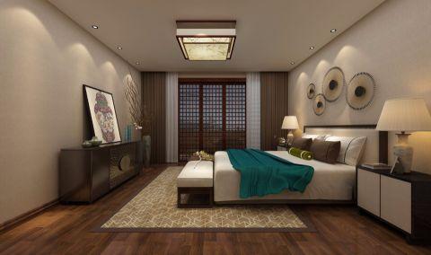 卧室推拉门新中式风格装饰设计图片