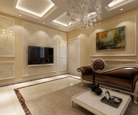 红星国际-110欧式风格两居室装修案例效果