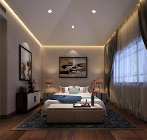 卧室吊顶古典风格装修图片