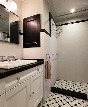 卫生间洗漱台古典风格装潢图片