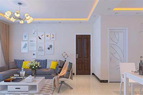 现代简约风格109平米楼房室内装修效果图