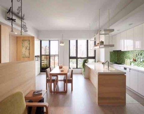 简约风格90平米三室两厅新房装修效果图