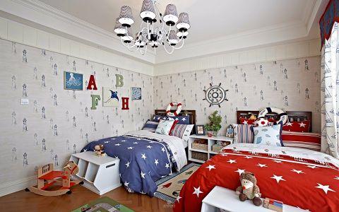 儿童房吊顶田园风格装潢效果图