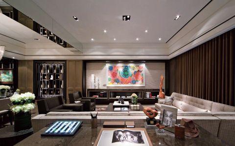 现代风格138平米三室两厅新房装修效果图