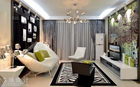 简约风格90平米公寓室内装修效果图