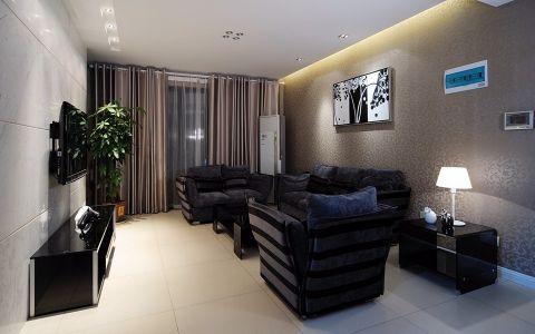 现代简约风格138平米三室两厅新房装修效果图