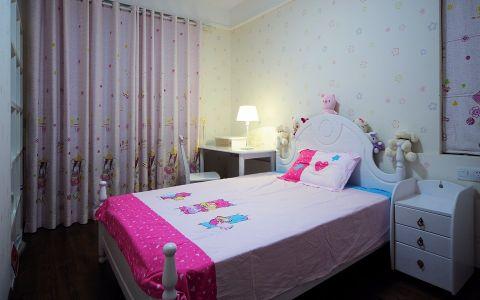儿童房背景墙现代简约风格装修图片