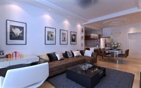 客厅沙发简约风格装饰图片