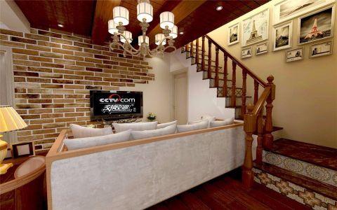 客厅楼梯东南亚风格装潢设计图片