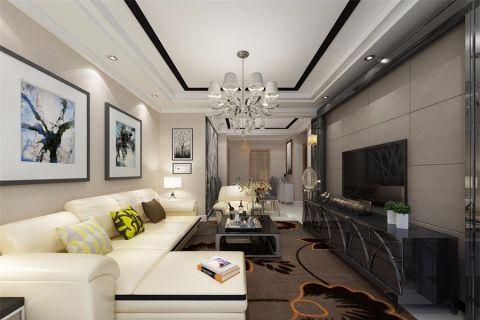 现代风格130平米三室两厅新房装修效果图
