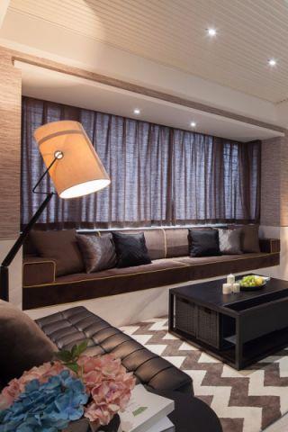 客厅窗帘简约风格装饰设计图片